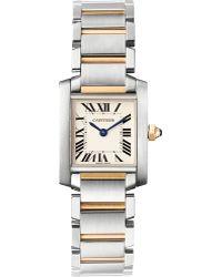 Cartier Tank Française Small Watch - For Men silver - Lyst