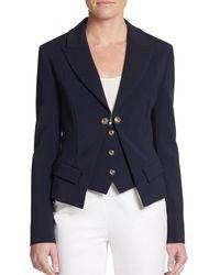 Versace Peak Lapel Mock-Vest Jacket - Lyst
