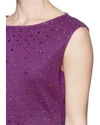 St. John Jewel Milano Knit Sheath Dress - Purple