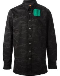 Raf Simons Camouflage Mint Pocket Shirt - Lyst