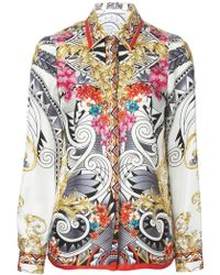 Versace Printed Shirt multicolor - Lyst
