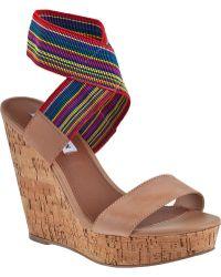 Steve Madden Roperr Wedge Sandal Bright Multi Fabric - Lyst