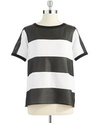 W118 by Walter Baker Perforated Faux Leather Top - Lyst