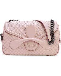 Bottega Veneta Intrecciato Medium Flap Shoulder Bag - Lyst