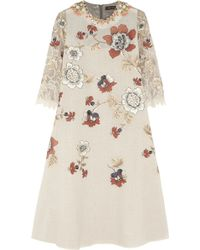 Biyan Liana Embellished Embroidered Voile Lace and Lamé Dress - Lyst