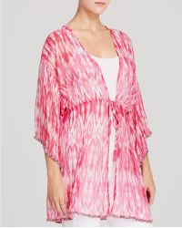 Moon & Meadow | Ikat Silk Cover Up | Lyst