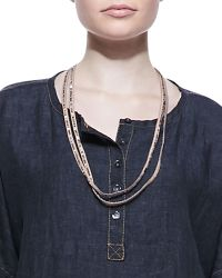 Eileen Fisher - Sequined Rivulet Necklace - Lyst