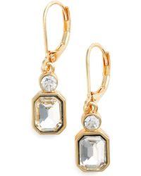 Anne Klein Lever Back Earrings - Metallic