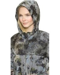 Vera Wang Collection - Watercolor Organza Parka - Blue - Lyst