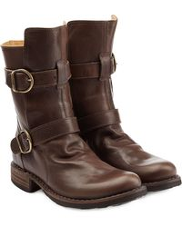 Fiorentini + Baker Calf Length Buckle Boots brown - Lyst