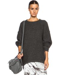 Helmut Lang Soft Grid Wool-Blend Pullover - Lyst