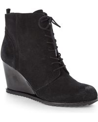 Kenneth Cole Reaction Black Storm Call Wedge Booties - Lyst