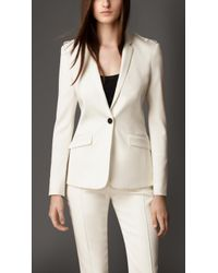 Burberry Tailored Grosgrain Detail Jacket - Lyst