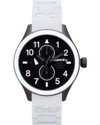 Superdry Men'S Scuba White Silicone Strap Watch 43Mm Iww-D10310013 - Lyst