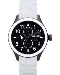 Superdry Men'S Scuba White Silicone Strap Watch 43Mm Iww-D10310013 black - Lyst