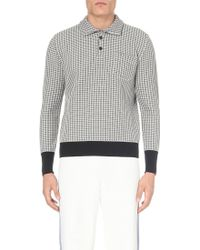 Loewe Patterned Knitted Polo Jumper - For Men - White