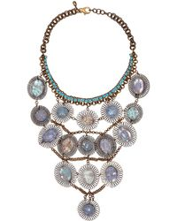Sveva Collection - Blue Serenata Dreamcatcher Bib Necklace - Lyst