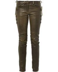 Isabel Marant Haper Skinnyleg Leather Trousers - Lyst