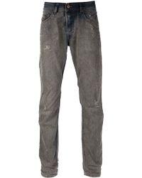 Diesel Gray Distressed Jeans - Lyst