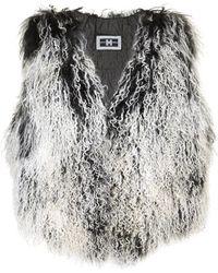 Helen Yarmak International - Grey and Black Mongolian Lamb Vest - Lyst