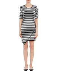 Barneys New York Ponte-Knit Dress black - Lyst