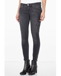 Paige Ivy Moscow Skinny Jeans with Zip Detail - Lyst