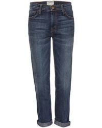 Current/Elliott The Fling Slim-Fit Boyfriends Jeans - Lyst