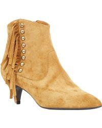 Saint Laurent Embellished Cat Boots - Lyst