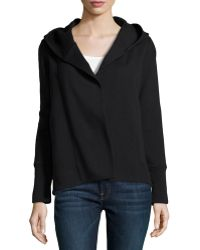 James Perse Cotton-Blend Hooded Open Cardigan - Lyst