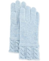 Portolano Cashmere-blend Cable-knit Cuff Glove - Lyst