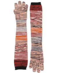 Missoni Crochet Knit Long Gloves - Lyst