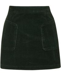 Topshop | Patch Pocket Cord A-line Skirt | Lyst