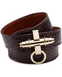 Givenchy Obsedia Three-Row Leather Wrap Bracelet - Lyst