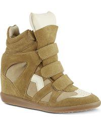 Isabel Marant Bekett Wedge Sneakers Beige - Lyst
