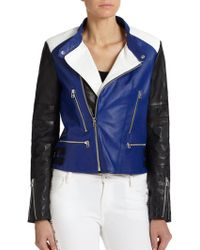 Each x Other Colorblock Leather Moto Jacket - Lyst