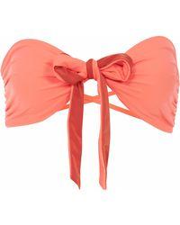 Lilliput & Felix - Rosa Ribbon Bikini Briefs In Hot Coral - Lyst