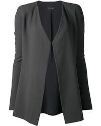 Narciso Rodriguez Contrast Lapel Open Jacket - Lyst