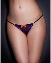 Agent Provocateur Purple Trixie String - Lyst