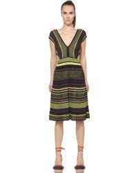 M Missoni Cotton Knit Dress - Lyst