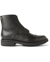 Foot The Coacher Joseph Country-Grain Leather Boots - Black