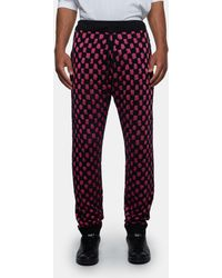 Sibling - Chequerboard Fluff Joggers - Lyst
