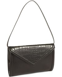 Isaac Mizrahi New York Darcy Leather Clutch - Lyst