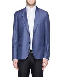 Paul Smith Darted Wool Blazer blue - Lyst