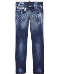 DSquared2 Slim Leg Distressed Jeans - Lyst