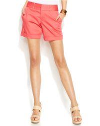 Inc International Concepts Twill Cuffed Shorts - Lyst