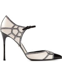Sergio Rossi Studded Ankle Strap Pumps - Lyst