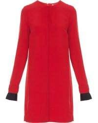 Victoria, Victoria Beckham Pleated Cuff Dress - Lyst