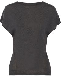 Rick Owens Gray Cashmere Top - Lyst