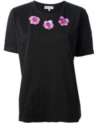 Lulu & Co | Embellished Floral T-shirt | Lyst