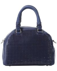Christian Louboutin Eclipse Calfskin Spiked Small 'Panettone' Satchel Bag - Lyst